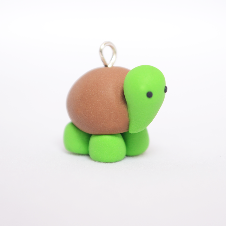 Adorable polymer clay turtle tortoise charm by linnypig on