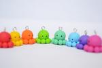 Handmade Rainbow Octopus Charms