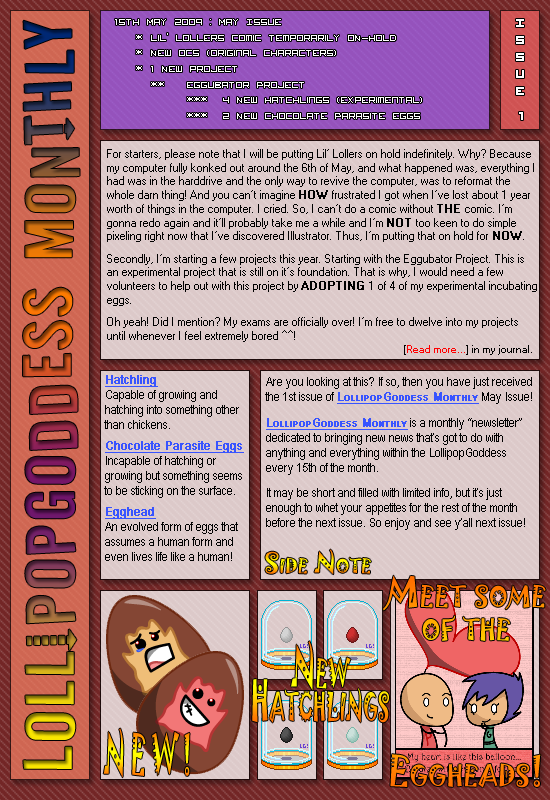 LollipopGoddess Monthly 1 by LollipopGoddess