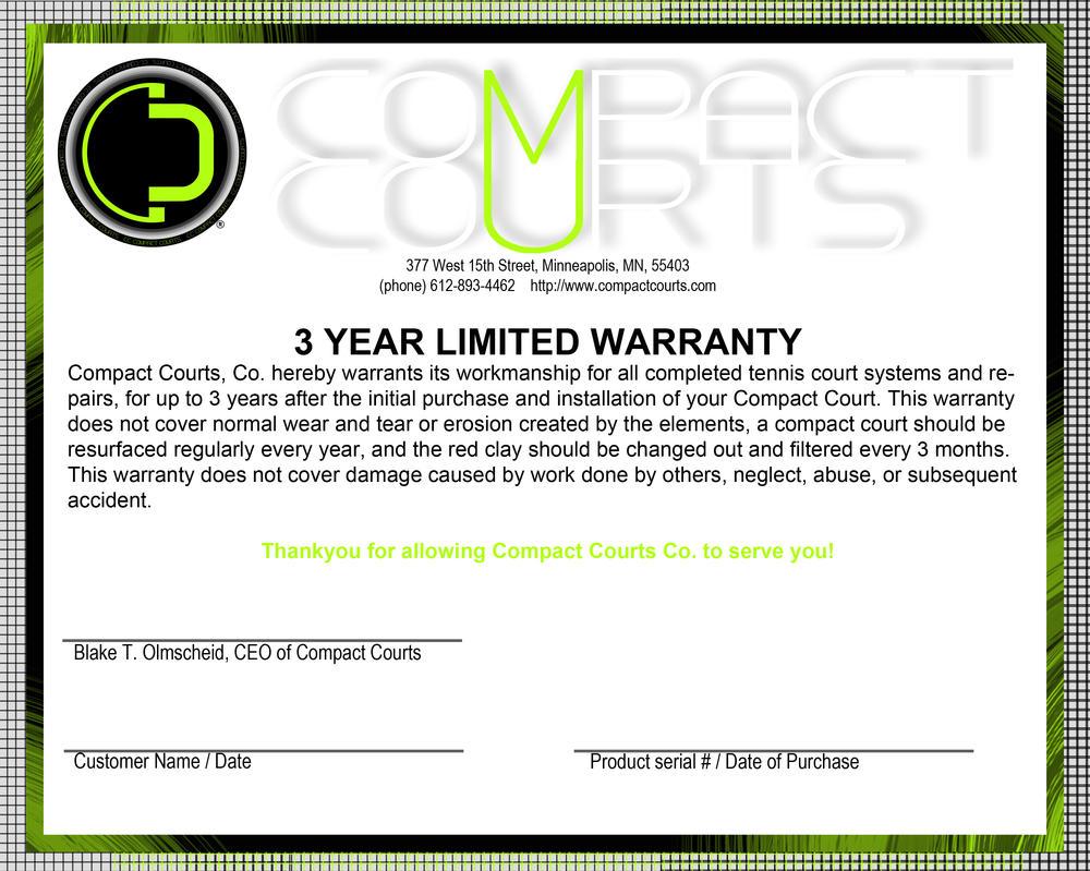Warranty Letter Format