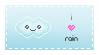 I love rain stamp by Leafbreeze7