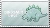 Dinosaur Stamp by Leafbreeze7