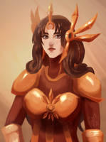 I just drew Leona from League of legends by FurutaArt