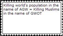 Stamp: AGW and GWOT by masonicon