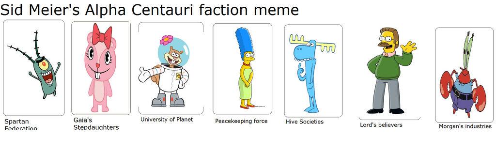 my SMAC faction meme by masonicon