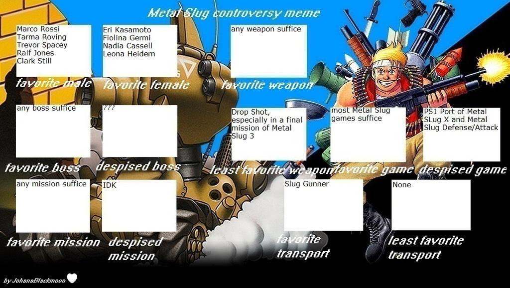 Zak's Metal Slug Controversy meme by masonicon
