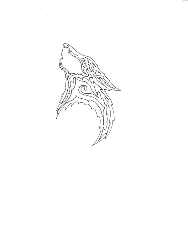 Wolf Tattoo Outline by ~moehawk37 on deviantART
