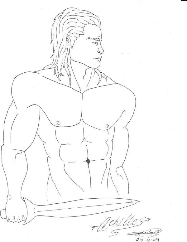 achilles coloring pages | Sketch Of Achilles Killing Hector Coloring Pages
