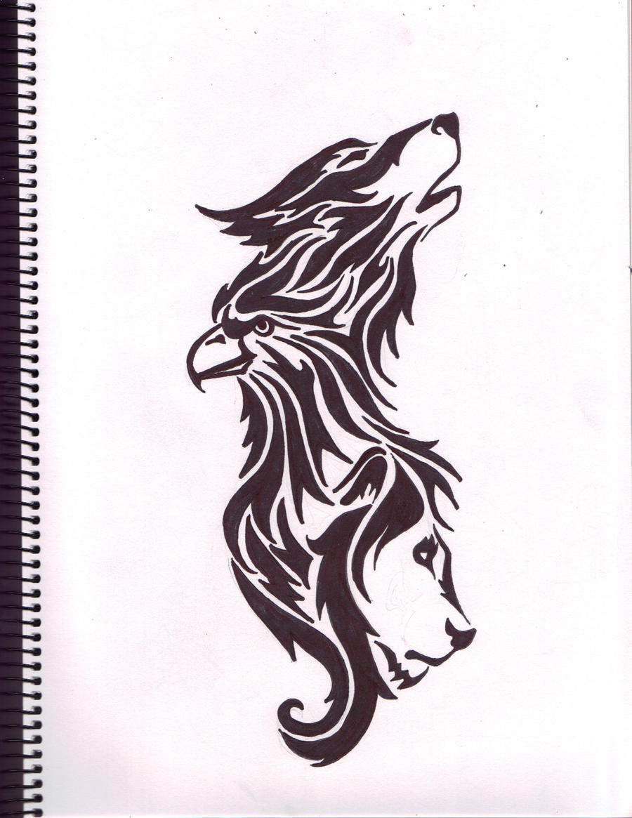 Native American Wolf Tattoos