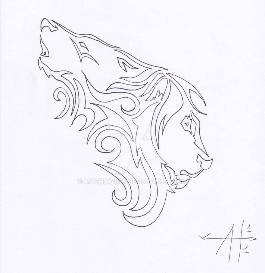 Wolf Lion Tattoo Outline By Moehawk37 On DeviantArt