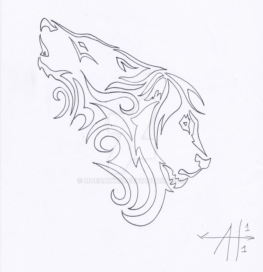 Wolf Lion Tattoo Outline By Moehawk37 On Deviantart The way the artist has achieved intensity in the creature's eyes is kind of like dot work, but done on a bigger, bolder level. wolf lion tattoo outline by moehawk37