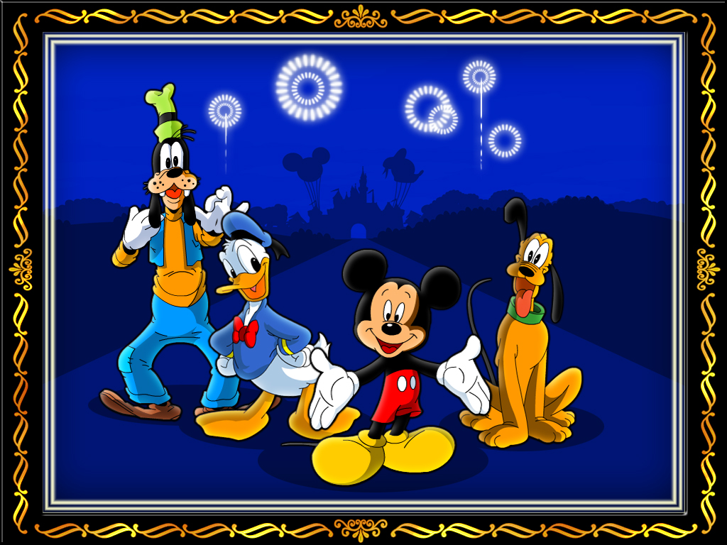 disney characters in frame by sudhirsgosavi - Disney Picture Frame