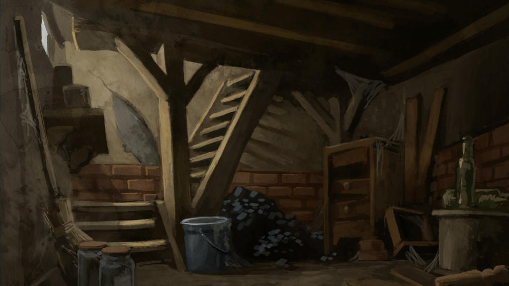 the night of the hunter basement by maxime teppe by drawing gnome on