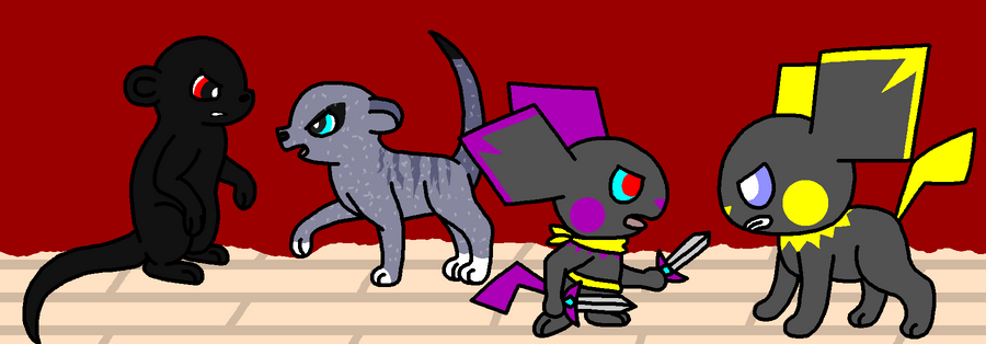 My Artwork - Page 8 Pup_battle_by_pancakeshiners-d42papf