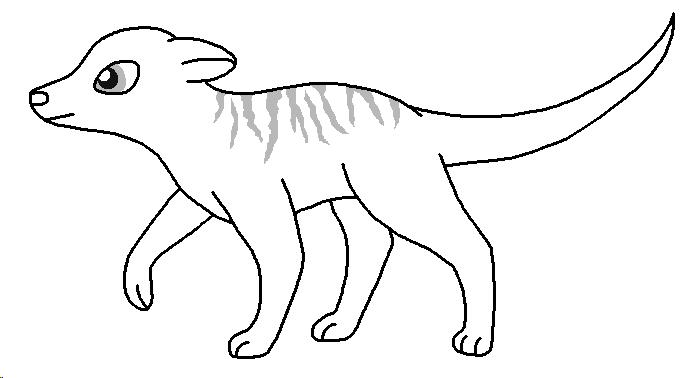 Meerkat Lineart Meerkat_base___thin_stripes_by_pancakeshiners-d4963ej