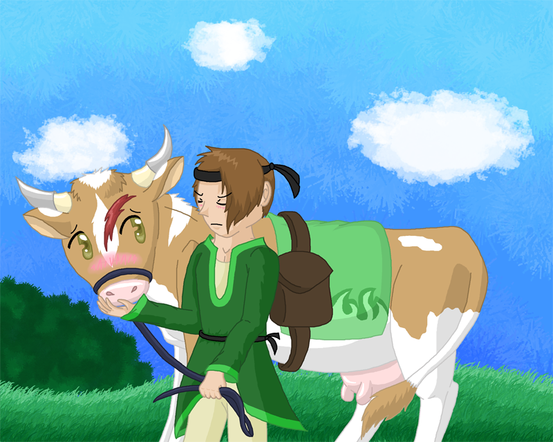 Pancake's Arts owo Sohnii_has_a_cow_by_pancakeshiners-d5kphcp