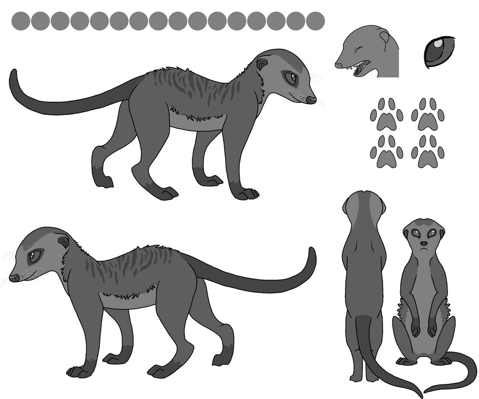 Meerkat Reference Sheet (LARGE FILE) by PancakeShiners