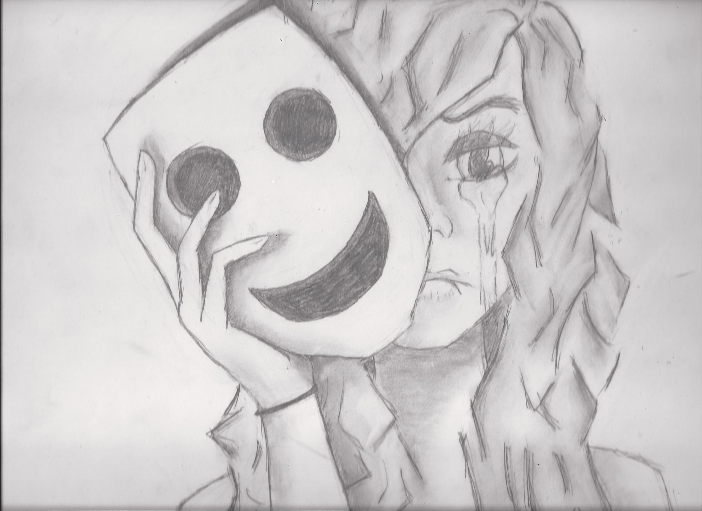 It is a graphic of Accomplished Drawing Of Someone Crying
