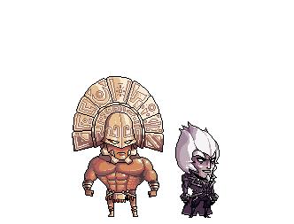 Two bad dudes by ShwigityShwonShwei