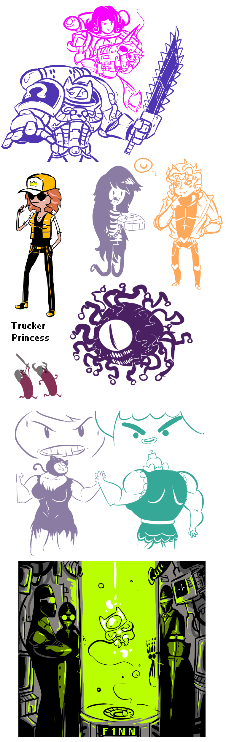 Adventure Time doodles2 by ShwigityShwonShwei