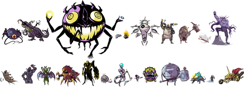Some monsters and some commissions
