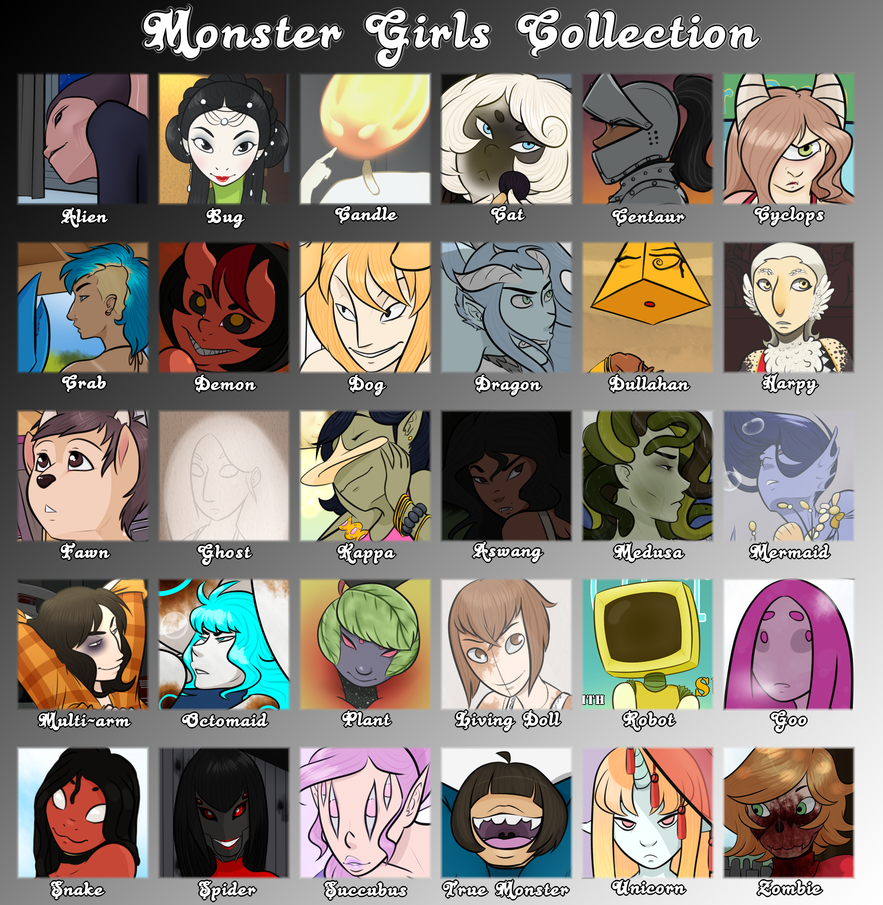 Monster Girls Collection Packs by SupaLexi