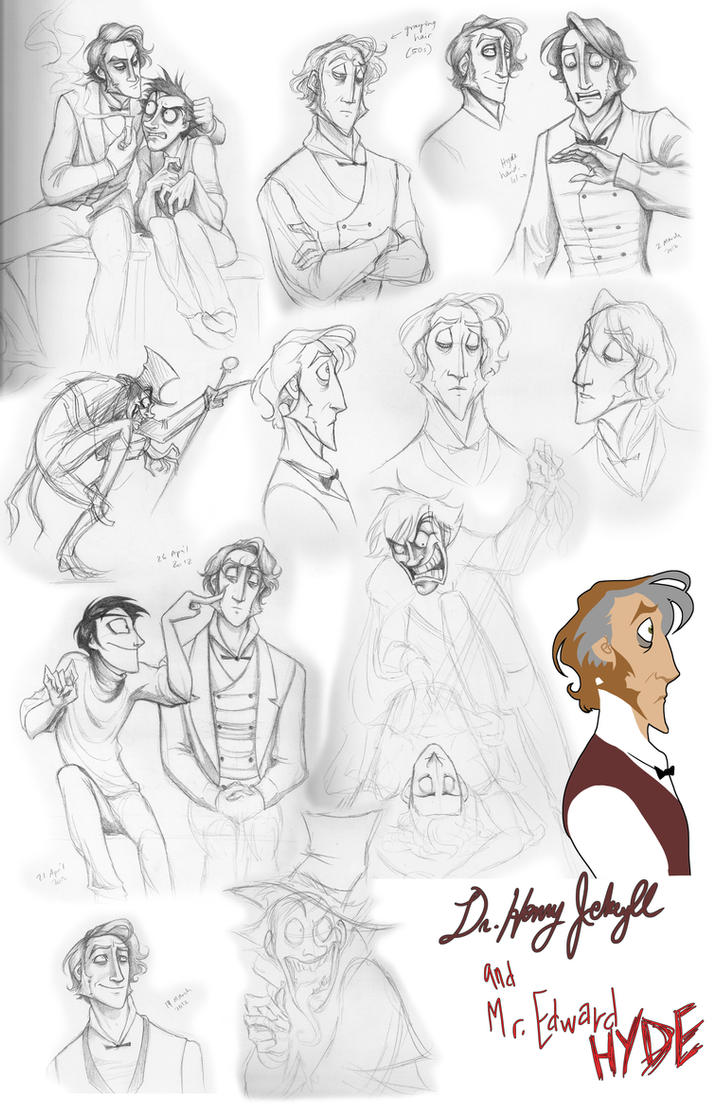 Jekyll and Hyde Sketch Dump nummer 2 by squonkhunter