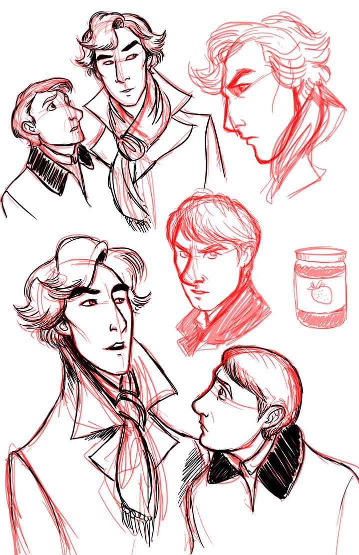Sherlock Sketches by squonkhunter