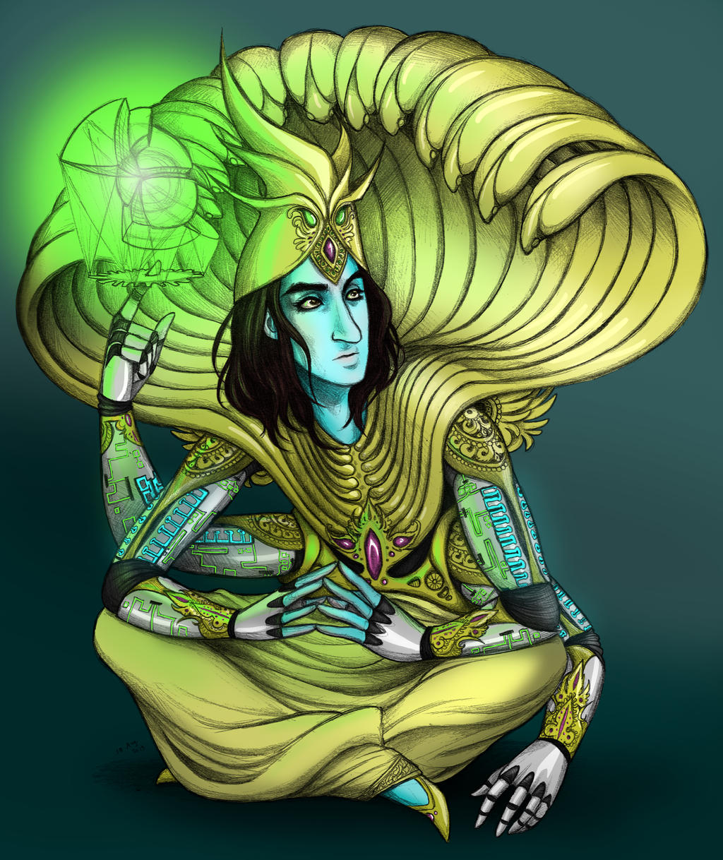 Vishnu, Architect of Heaven by squonkhunter