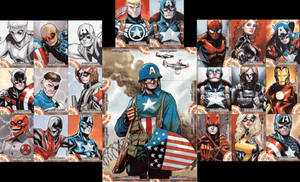 captain america sketch cards