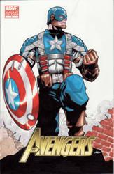 cap avengers cover by lazeedog