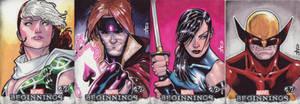 Marvel Beginnings AP cards