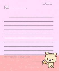 Korikakkuma Letter Freebie