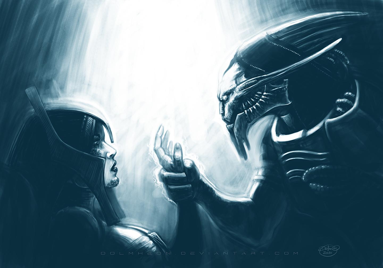Saren and Benezia by Dolmheon