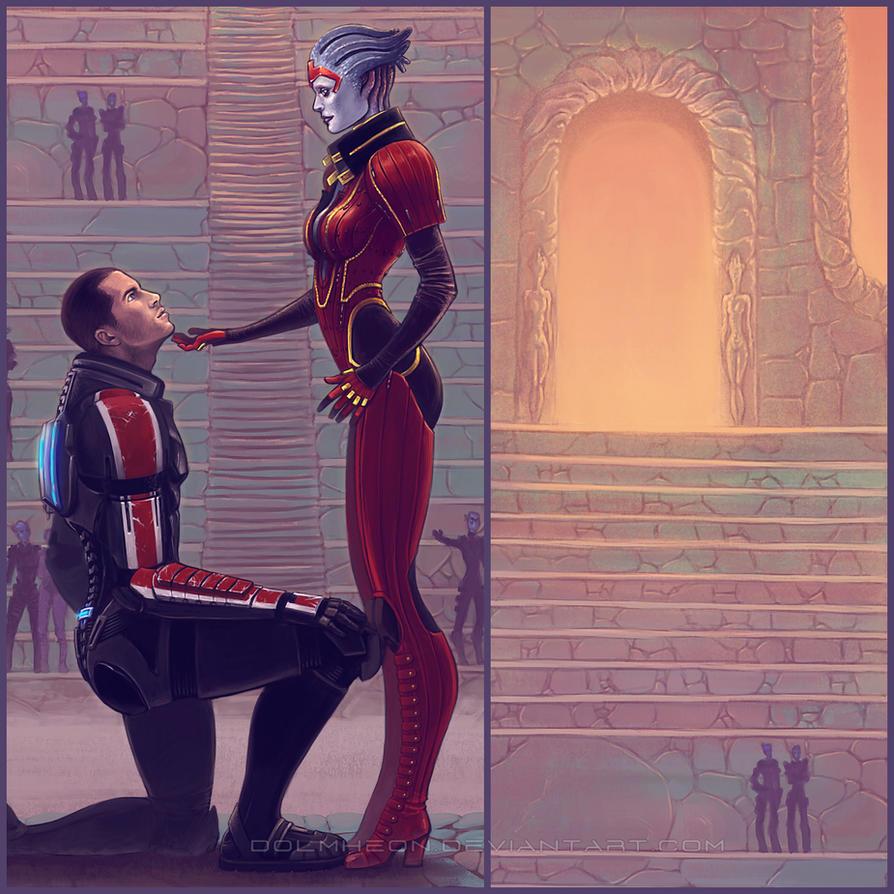 Shepard + Samara details by Dolmheon