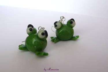 frogs earrings by Monocian