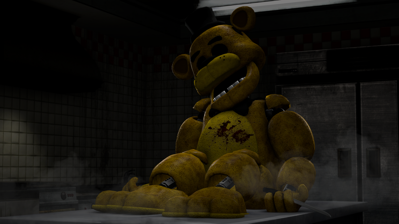SFM FNAF | Golden Freddy in the Kitchen by MARTIN3X on ...