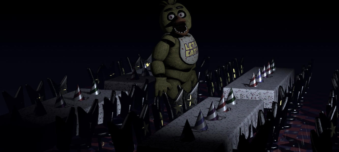 Fnaf Sfm Chica At The Dining Area Remake By Martin3x On