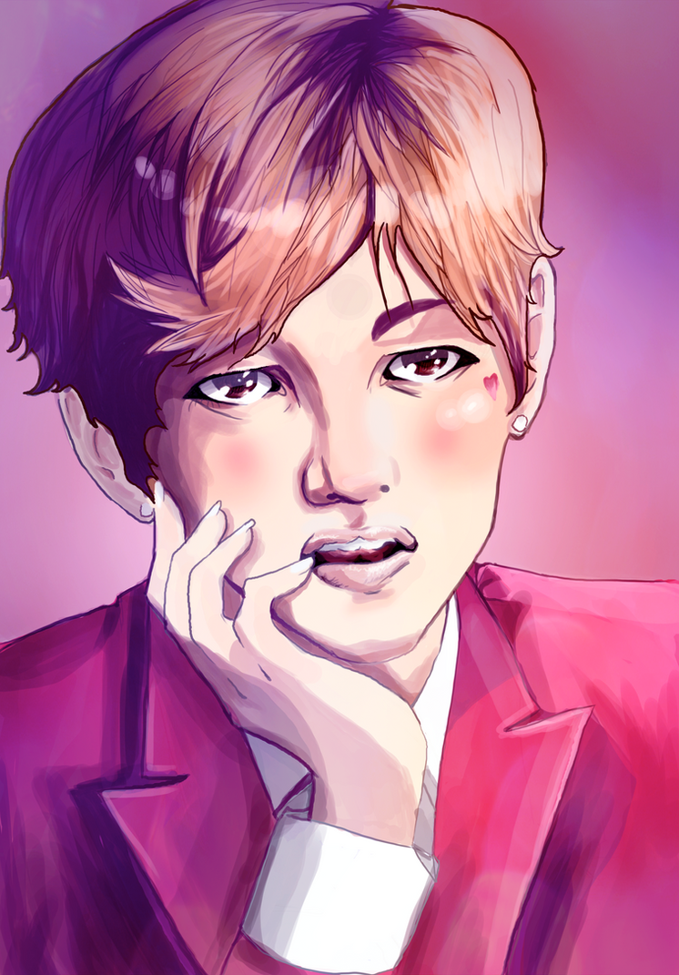 BTS Taehyung by xMegalynx