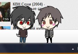 Izaya and BB Shimeji by kirbypet