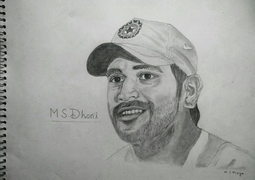 M s dhoni pencil drawing by mohd shad mirza by iamshadmirza