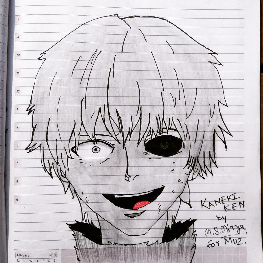 Kaneki Ken Drawing By Mohd Shad MIrza By Iamshadmirza On