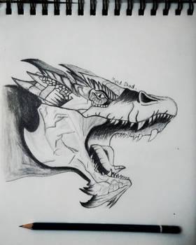 Dragon pencil drawing