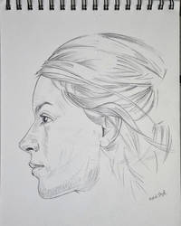 Girl sideface drawing