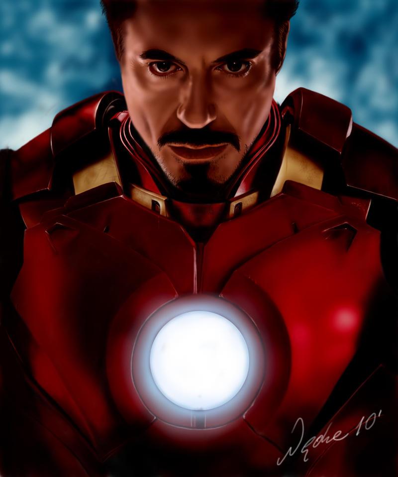 Robert Downey Jr Iron man 2 by TheBlackAdder
