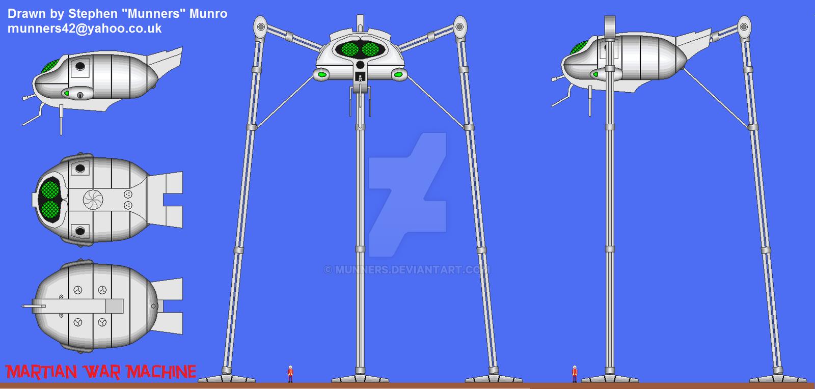 Martian war machine v1 1 by munners on deviantart