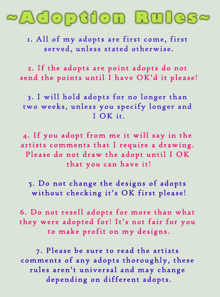 Adoption Rules by AbwettarAdopt