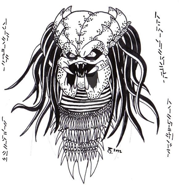 Predator Face by Bender18 on DeviantArt