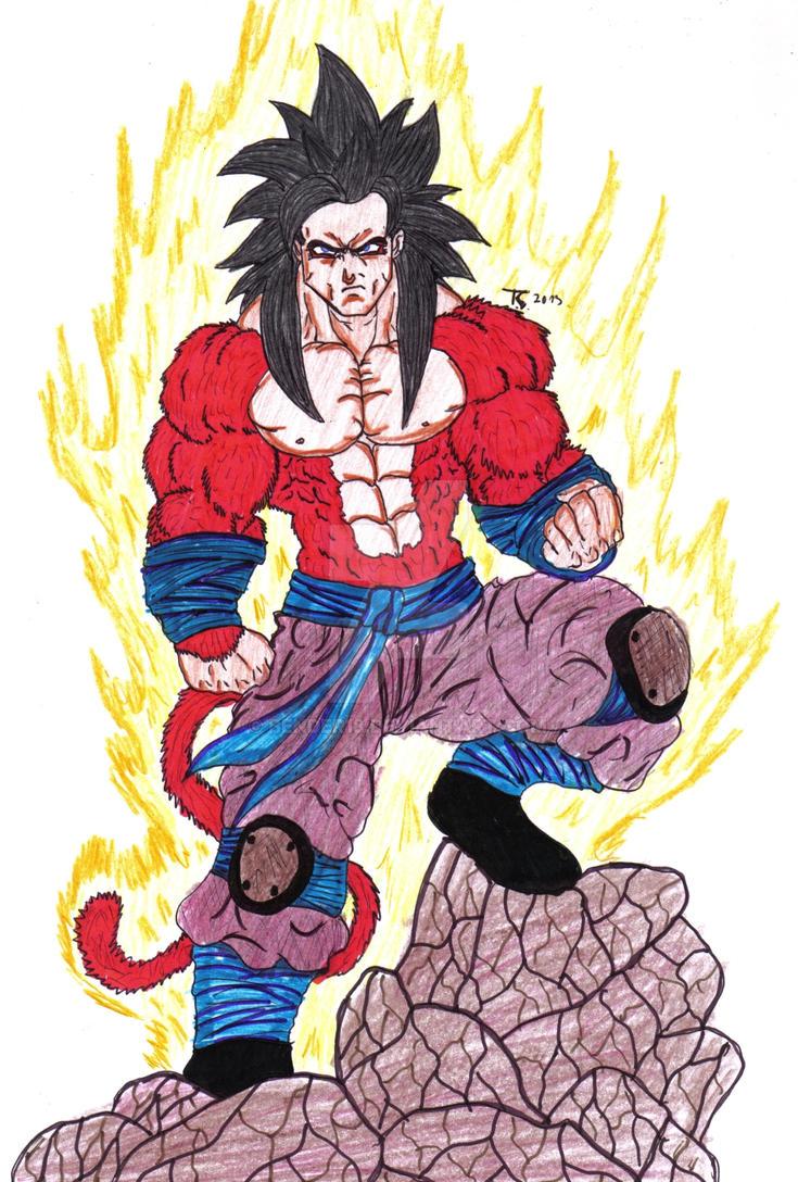 Goku Ssj4 Color 2013 by Bender18