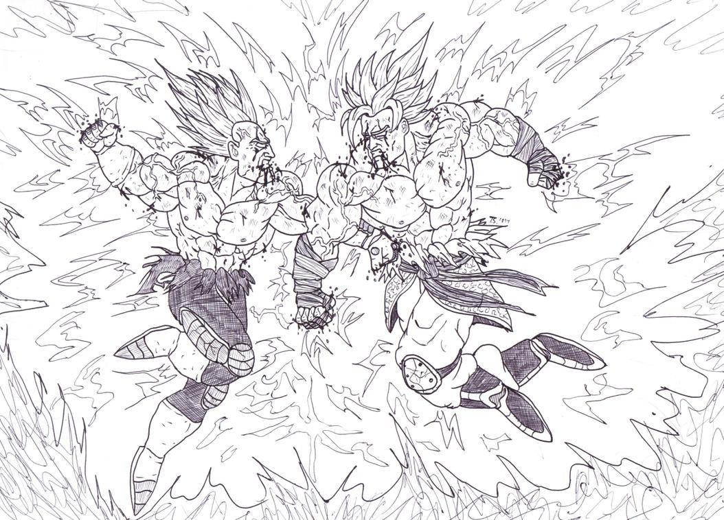 Goku Vs Vegeta by Bender18 on DeviantArt